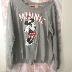 Disney Classic Minnie Mouse Lace Up Sweatshirt